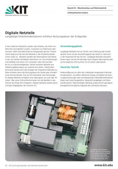 Datenblatt-Netzteile DE